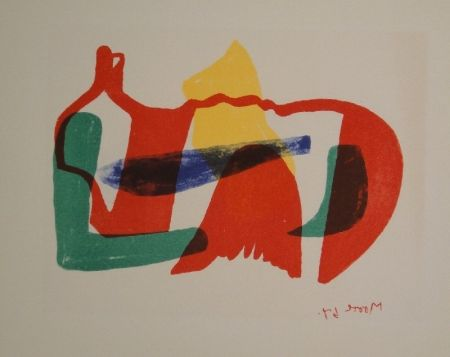 リトグラフ Moore - Multicoloured Reclining Figure