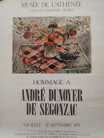 掲示 De Segonzac - Musée de l'Athénée - Genève