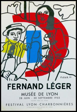 リトグラフ Leger - MUSEE DE LYON - FESTIVAL LYON CHARBONNIERES