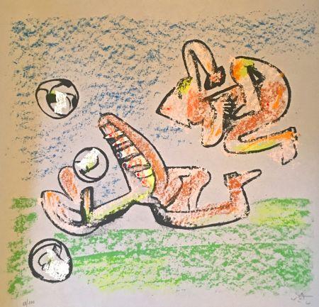 リトグラフ Matta - Music foot II