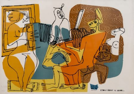リトグラフ Le Corbusier - Musiciennes (hand-signed & numbered)