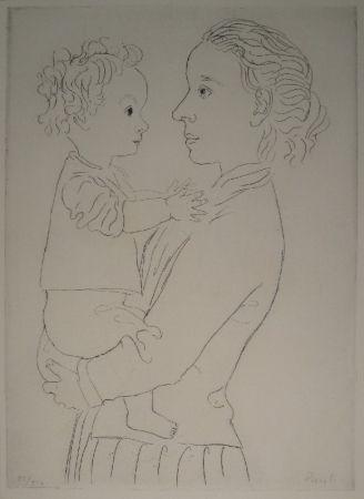 エッチング Pauli - Mutter und Kind