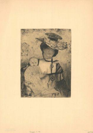 彫版 Corinth - Mutter und Kind