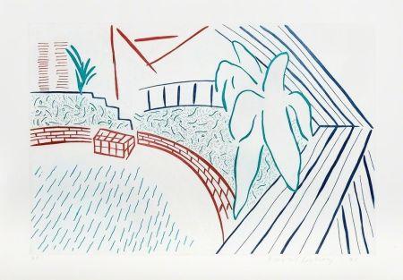 エッチング Hockney - My Pool and Terrace