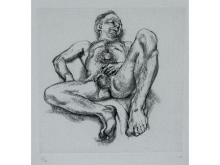 エッチング Freud - Naked man on a bed