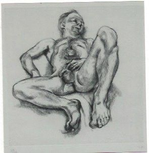 彫版 Freud - Naked man on a bed