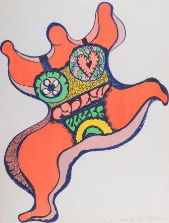 リトグラフ De Saint Phalle - Nana, 1971. Lithographie signé.