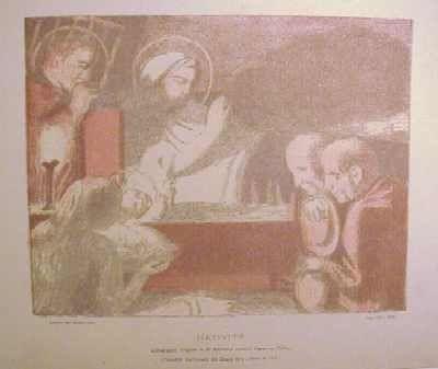 リトグラフ Denis - Nativité