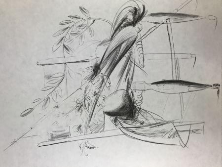 リトグラフ Manzu - Natura Morta