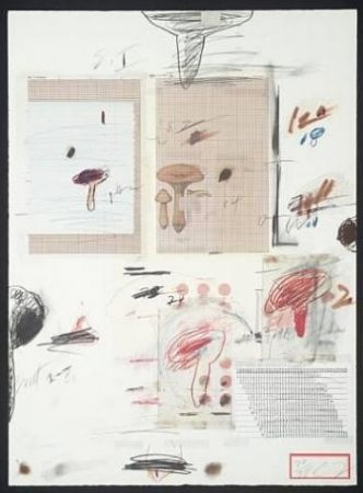 リトグラフ Twombly - Natural History Part I: Mushrooms IV