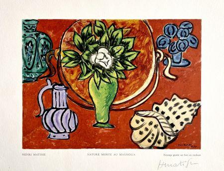 木版 Matisse - Nature Morte au Magnolia