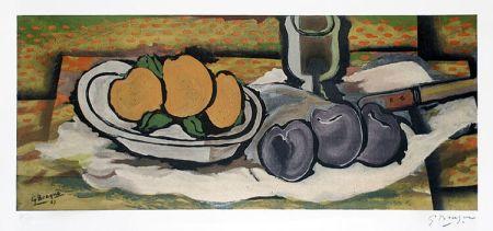 リトグラフ Braque - Nature Morte Aux Fruits, 1950