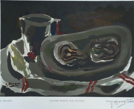 木版 Braque - Nature Morte aux Huitres