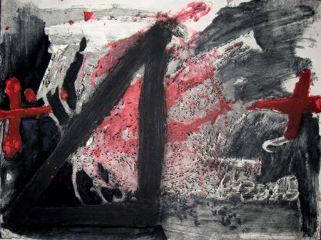 エッチングと アクチアント Tàpies - Negre i Roig