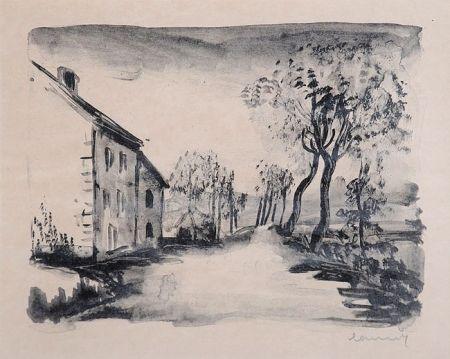リトグラフ Vlaminck - Nelle-la-Vallée, le Chemin aux Bords du Sausseron
