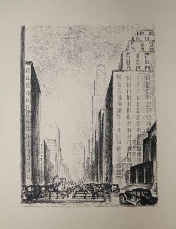 リトグラフ Lubbers - NEW-YORK / BROADWAY