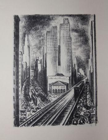 リトグラフ Lubbers - NEW-YORK / SUBWAY