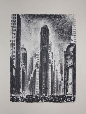 リトグラフ Lubbers - NEW-YORK / TIMES SQUARE