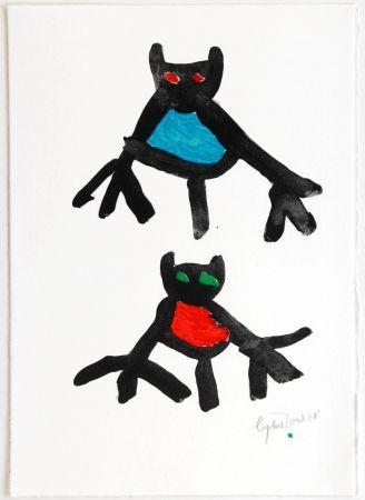 リトグラフ Ionesco - New Year's Card 1987 / 1988