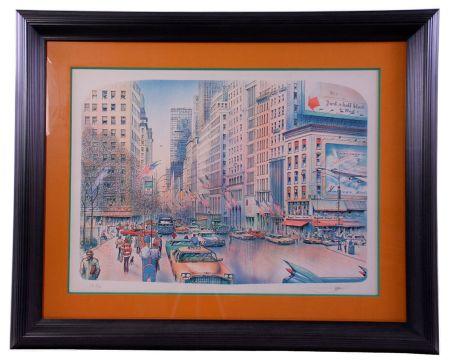 リトグラフ Rafflewski - New York 5th Avenue