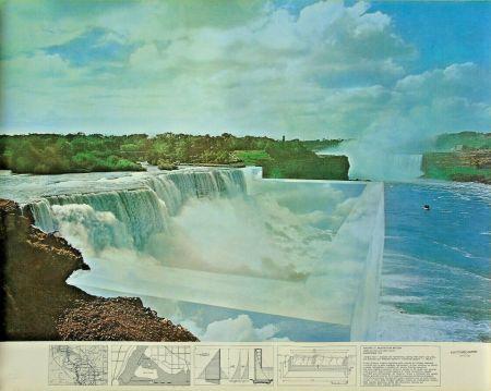 リトグラフ Superstudio - Niagara o l'architettura riflessa