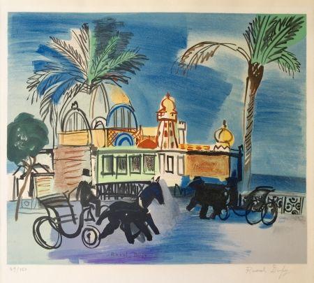 リトグラフ Dufy - Nice - le Casino de la Jetée aux deux
