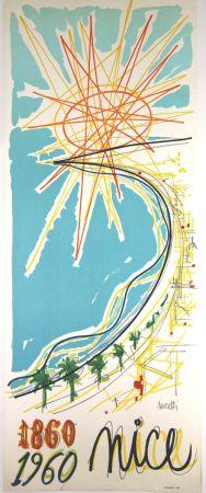 リトグラフ Moretti - Nice 1860 1960