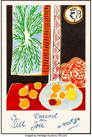 リトグラフ Matisse - Nice, Travail et joie