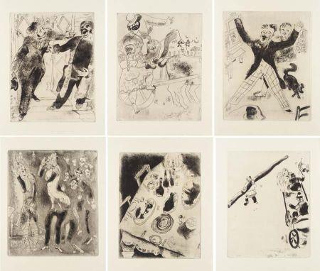 挿絵入り本 Chagall - Nicolas Gogol : LES ÂMES MORTES. Eaux-fortes originales de Marc Chagall