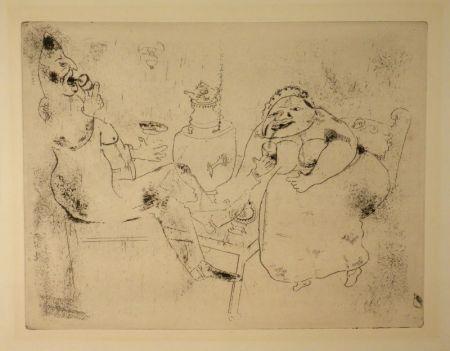 エッチング Chagall - (Nicolas Gogol, Les Ames Mortes, 18)