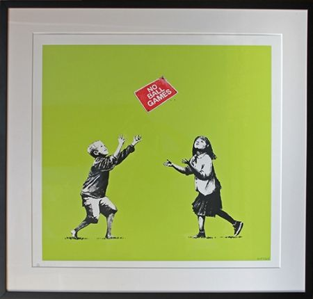 シルクスクリーン Banksy - No Ball Games (Green)