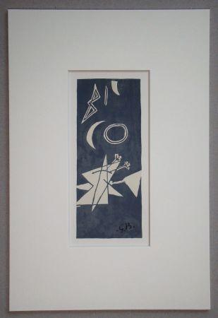 リトグラフ Braque (After) - Nocturne