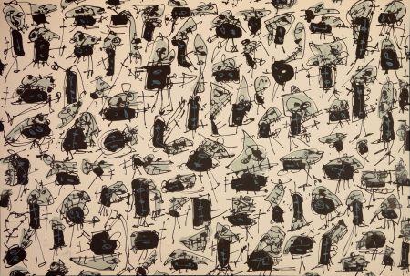 リトグラフ Saura - Nombre de curés, Planches 5
