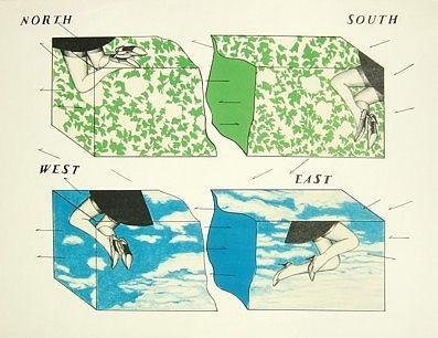 リトグラフ Ikeda - Nord - Sud - Est - Ovest