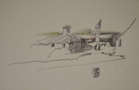 技術的なありません Janssen - (Nordische Landschaft mit Gebäuden, Turm und zwei Personen)