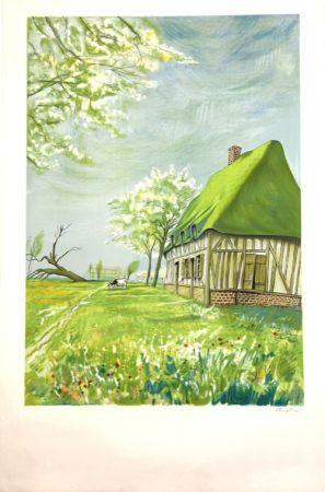 リトグラフ Foujita - Normandie  Epreuve d'Artiste