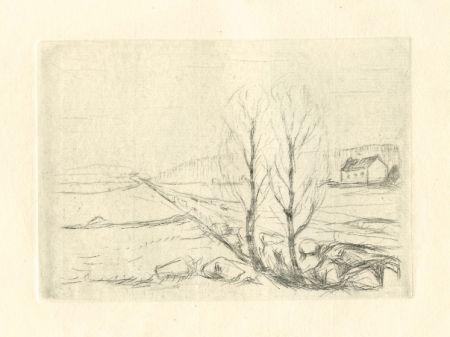 ポイントーセッシュ Munch - Norwegische Landschaft / Norwegian Landscape
