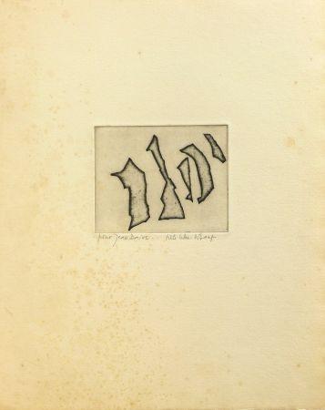 彫版 Celan Lestrange - Nos frères/ Unsere Brüder