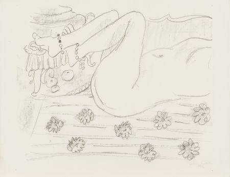 リトグラフ Matisse - Nu. Étude d'un mouvement de jambes
