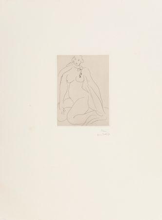 彫版 Matisse - Nu Accroupi, Une Cordeliere Nouee Autour du Cou