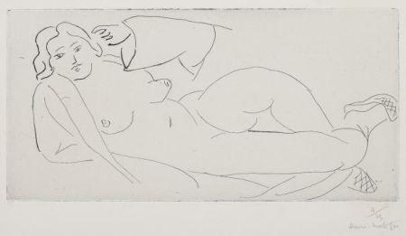 彫版 Matisse - Nu Allongé, Aux Babouches De Paille Tressée