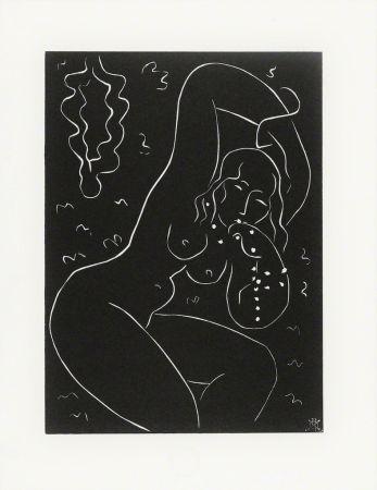 リノリウム彫版 Matisse - Nu au Bracelet
