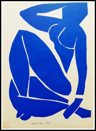 リトグラフ Matisse (After) - NU BLEU I