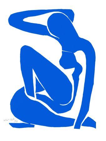 リトグラフ Matisse - Nu Bleu I (Blue Nude I)
