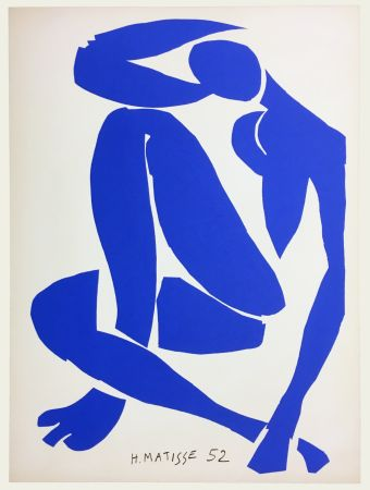 リトグラフ Matisse - Nu Bleu IV (1958)