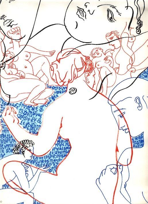 リトグラフ Villeglé - Nu (collection Naked)