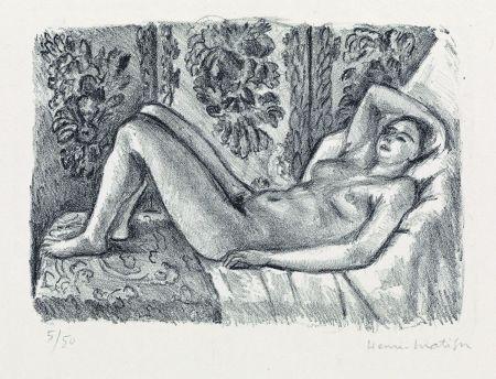 リトグラフ Matisse - Nu couché au paravant Louis XIV