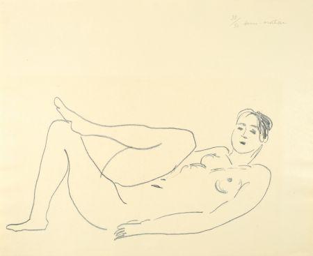 リトグラフ Matisse - Nu couché, jambe repliée - Étude de jambes