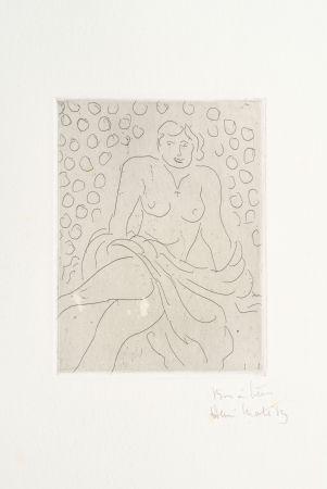 彫版 Matisse - Nu drapé sur fond composé de cercles