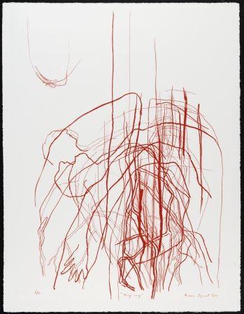 リトグラフ Cozannet - Nuage rouge